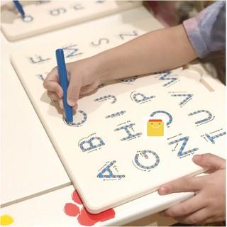 Bảng tập viết chữ ABC và số 123 dành cho bé