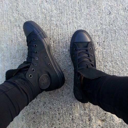 Giày Converse Classic Chuck Taylor Cổ cao màu Full đen (All black)