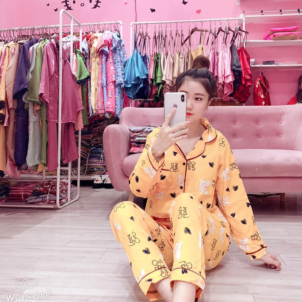 Bộ Pijama kate thái siêu chất (Tay dài, quần dài)