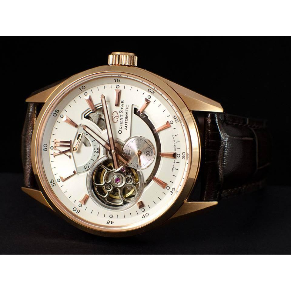 Đồng hồ nam dây da Orient Star SDK05003W0