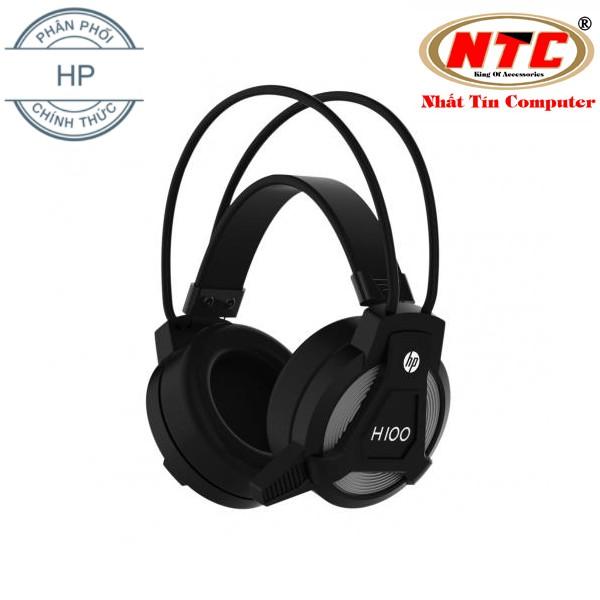 Tai nghe chụp tai HP H100 màn loa 50mm - Âm thanh vang cực hay (Đen)
