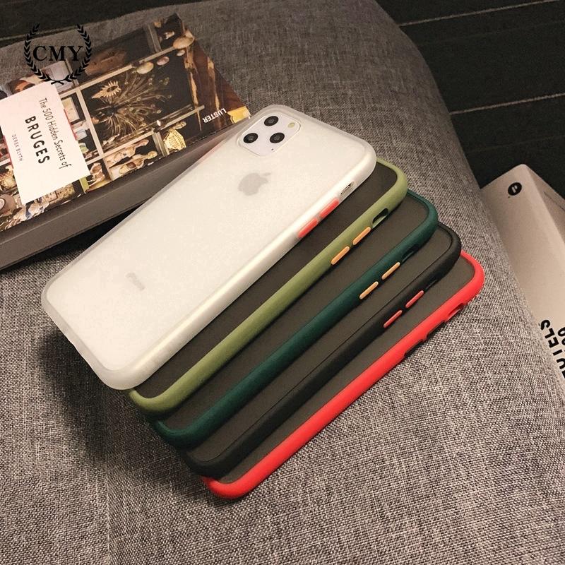 Ốp điện thoại TPU silicon mặt nhám dành cho iPhone 11/11Pro/11ProMax X XR XS XS MAX 6 7 8 Plus SE