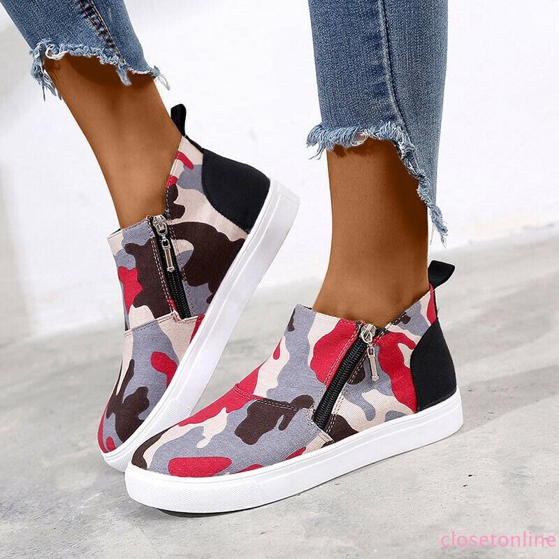 Giày lười họa tiết rằn ri năng động trẻ trung dành cho nữ