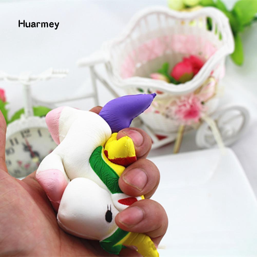 ★Hu 13.5cm Cute Squishy Pegasus Toy Squeeze Relieve Stress Slow Rising Kid Gift chuyên sỉ