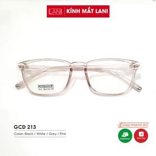 Gọng kính cận nam nữ nhựa dẻo siêu bền, dáng chữ nhật basic Lani 213 Đủ Màu - Lắp Mắt Cận Theo Yêu Cầu thumbnail