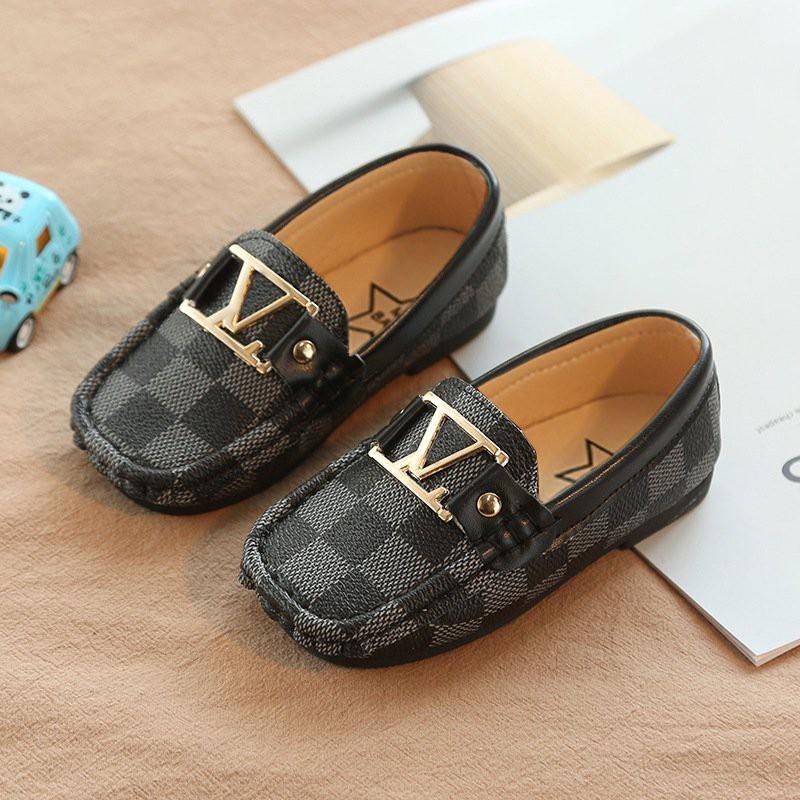 giày cho bé - giày Giày Lười Da Bóng Phong Cách Cho Bé v351