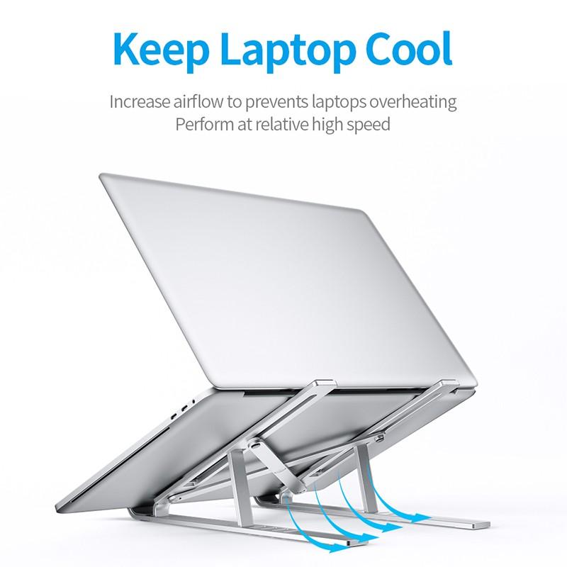 Giá Đỡ Laptop llano X8 Bằng Hợp Kim Nhôm Không Trơn Nhỏ Gọn Có Thể Điều Chỉnh Và Gập Gọn