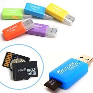 Đầu Đọc Thẻ Nhớ Vỏ Nhôm Micro SD mini Tiện Dụng Giá Rẻ