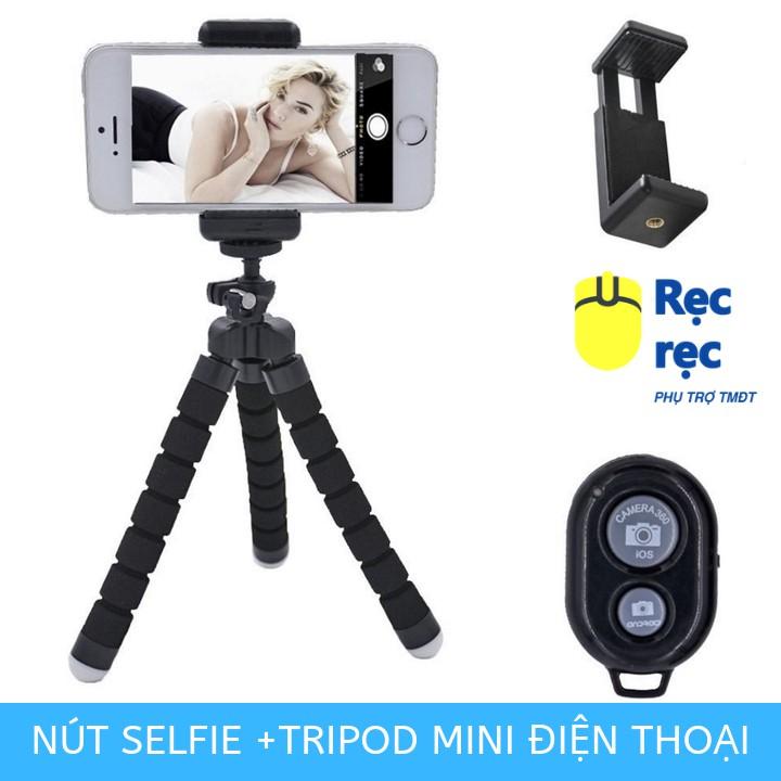 [Tặng kẹp điện thoại] Tripod bạch tuộc cho điện thoại smartphone chân máy chụp ảnh cỡ nhỏ thân xốp chân rệp - CMA