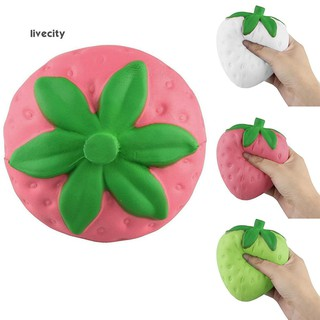 Cute Strawberry Slow Rising Squishy Stress Relief Squeeze Toy Phone Bag Pendant