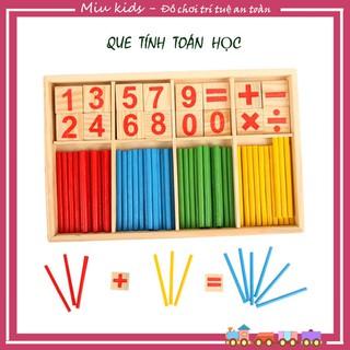 Que tính học toán cho bé, bảng tính toán học gỗ - đồ chơi toán học thumbnail