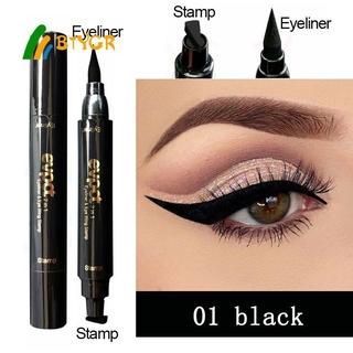 Evpct 7 Colorful Liquid Eyeliner Stamp-Pencils Double-Headed Thin Wing Seal Waterproof Makeup Eye Liner Blue Black Brown BTYGR