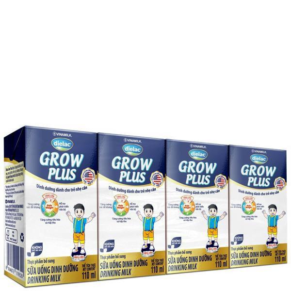 sữa bột pha sẵn dielac grow plus xanh 110ml