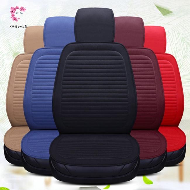 Elegant Linen Seat Cushion Comfortable Car Seat Cover Pad