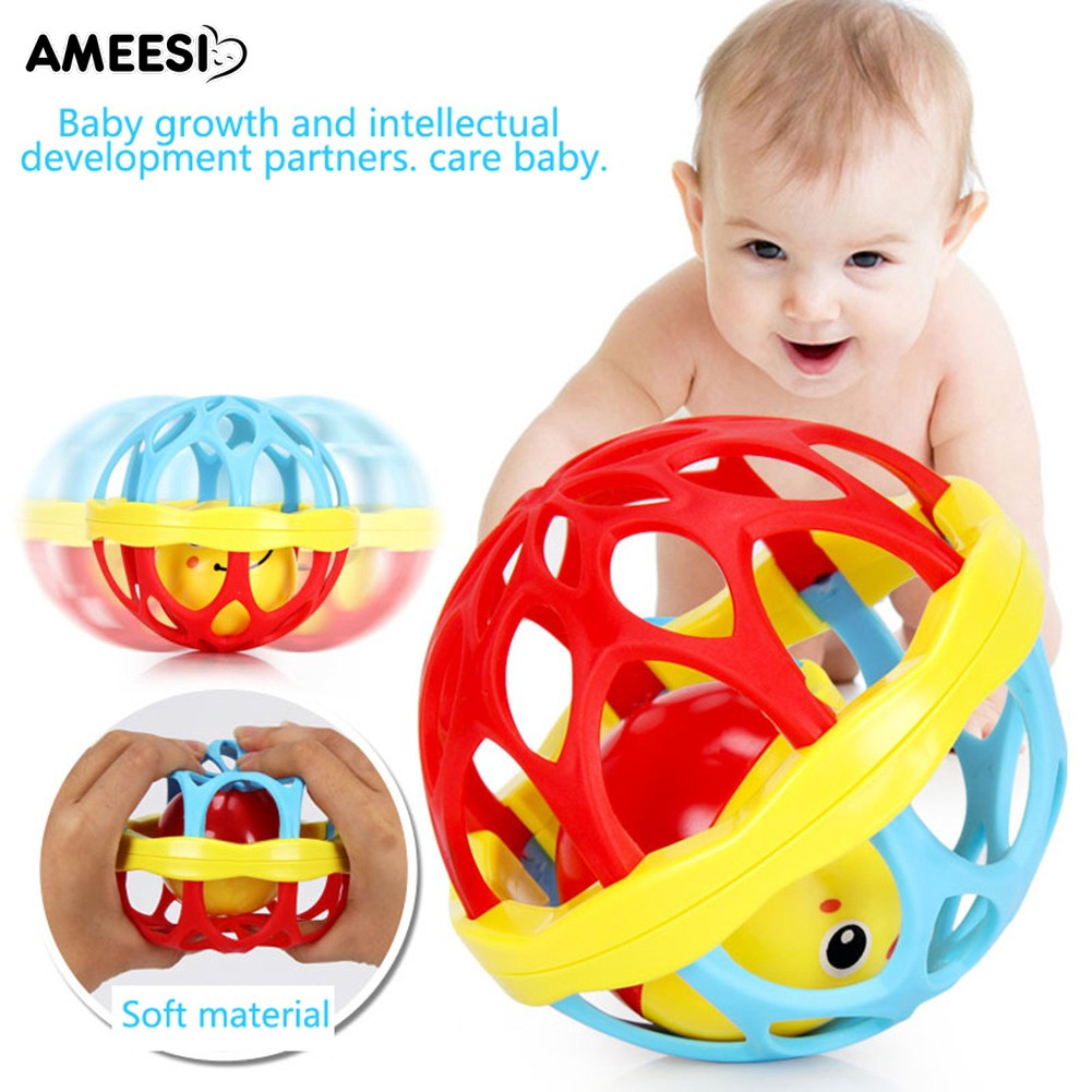 🔅🔆AMEESI  Teether Toy Baby Intelligence Gums Hand Bell Birthday Gift