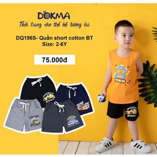 [Mã FASHIONXANH264 giảm 10K đơn 50K] (2-6Y) Quần đùi/short cotton cho bé – DOKMA