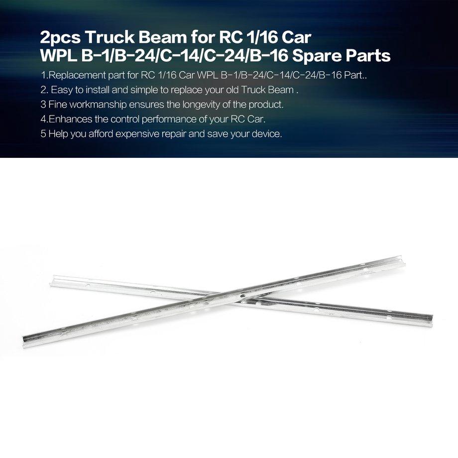 2pcs Truck Beam for RC 1/16 Car WPL B-1/B-24/C-14/C-24/B-16 Spare Parts