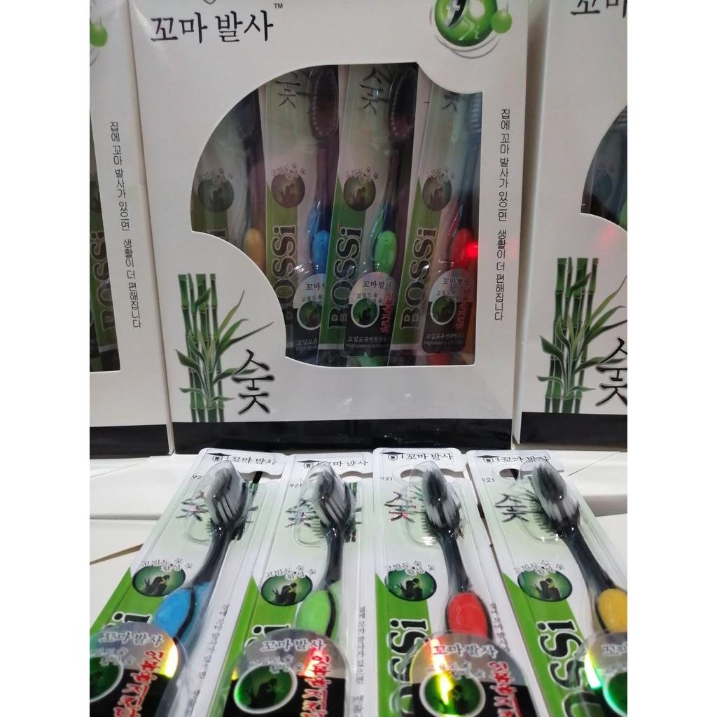 (HCM- Sỉ lẻ) Bàn chải than tre hoạt tính Hàn Quốc Bossi