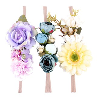 3pcs New Flower Headband for Girl Hair Accessories Girl Headwear Bow Style 2