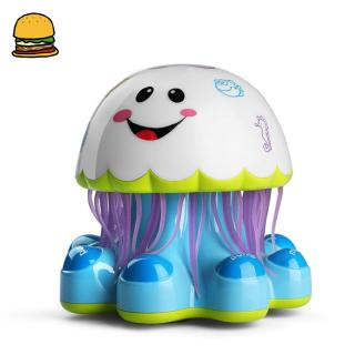 Baby Infant Electronic Jellyfish Shape Light Music Story Telling Educational Toy with Universal