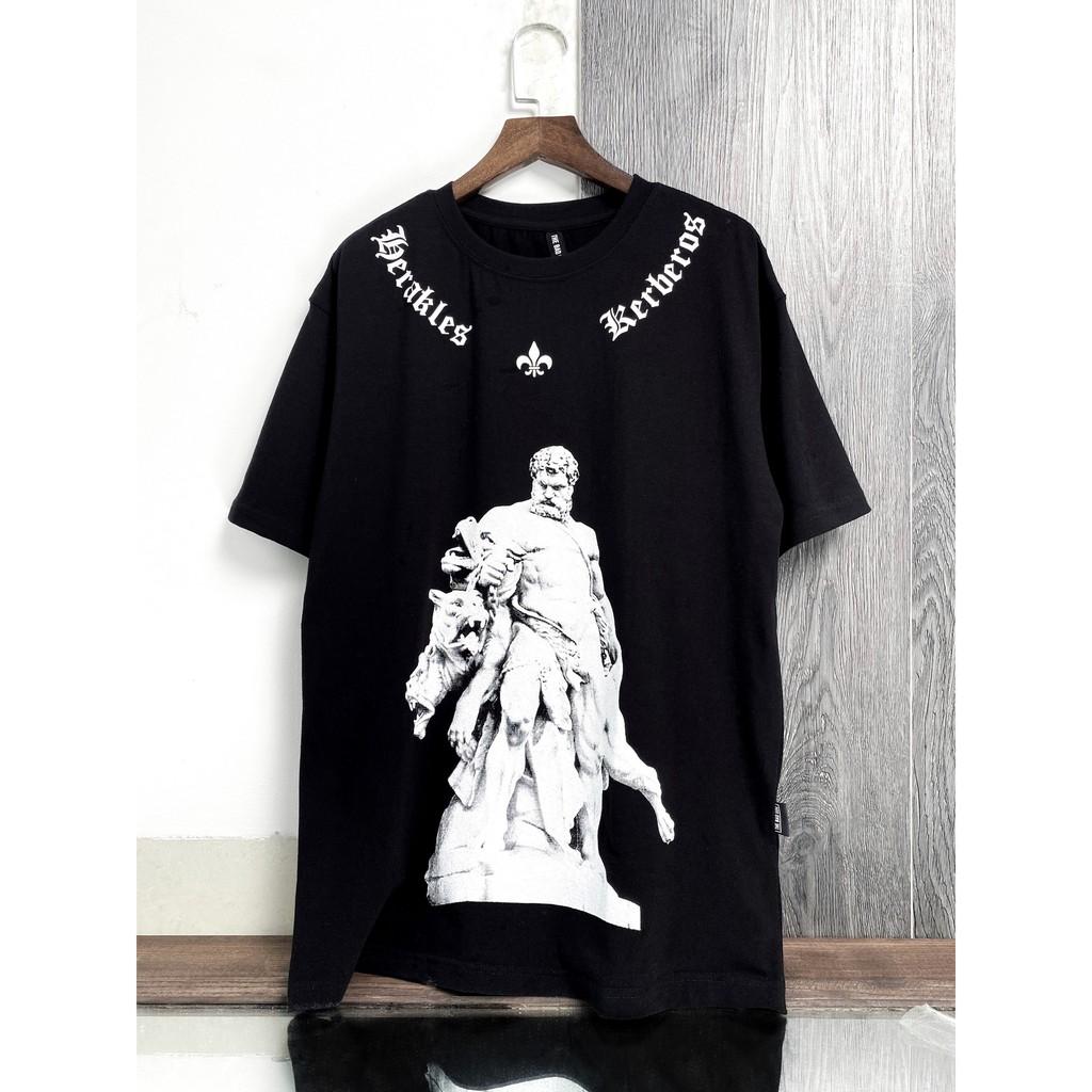 Áo thun tay lỡ Thần Zeus đen, áo T Shirt in hình nam nữ unisex, MSW Town