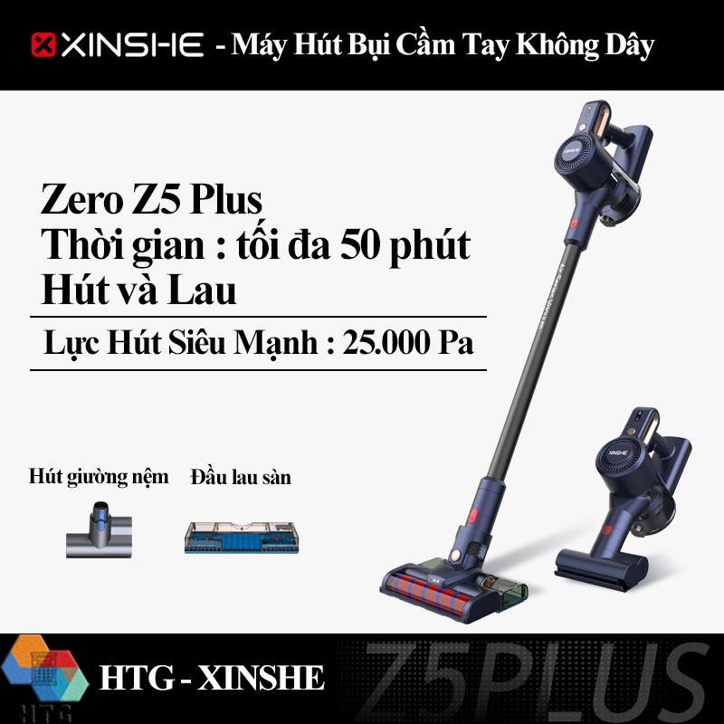 Máy Hút Bụi Cầm Tay Không Dây XINSHE Zero Z5 Plus, hút và lau, lực hút siêu mạnh 25000Pa, dùng đến 50 phút, hút nệm