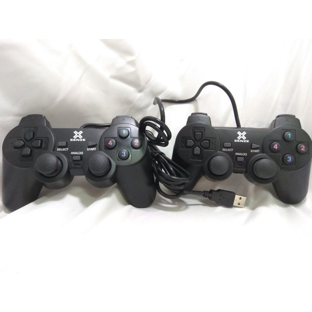 8H1S[P1028] Combo 2 Tay cầm chơi game Rung Controller dùng 1 Cổng USB cho máy tính bàn PC, Laptop C6V8