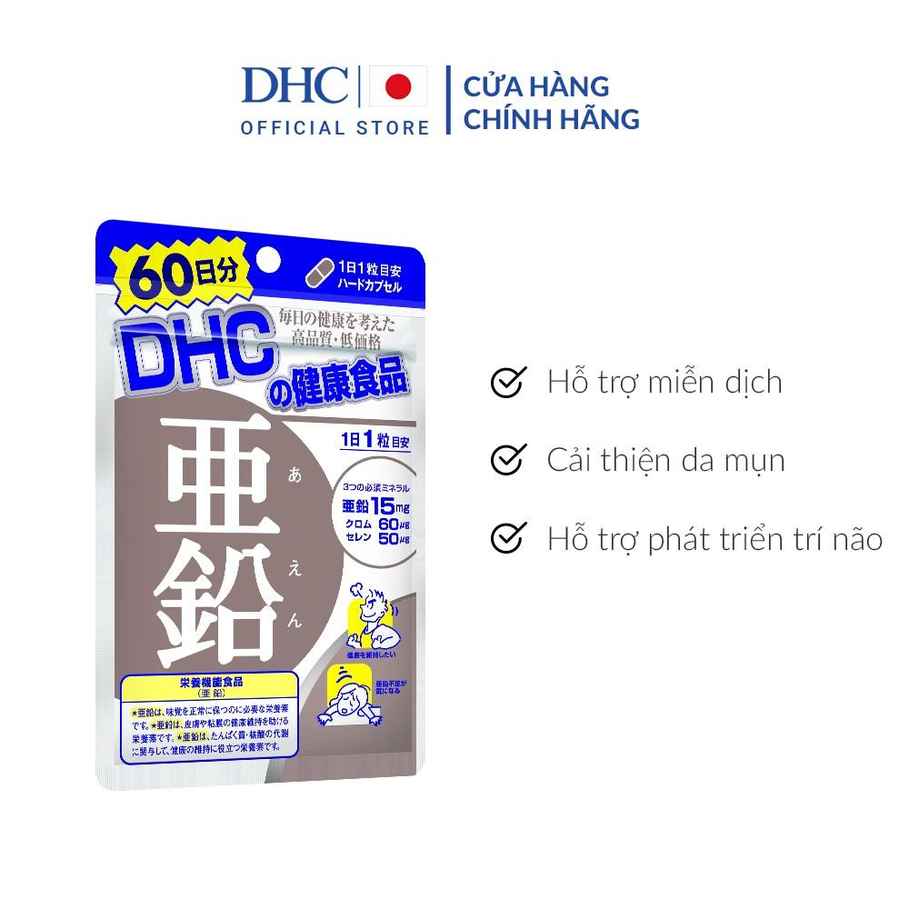 [Mã COSDHC18 giảm 10% đơn 250K] Viên uống Bổ sung Kẽm DHC Zinc 20v/gói và 60v/gói