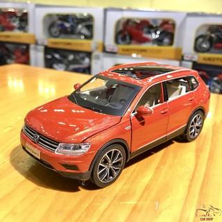 Mô hình xe ô tô Volkswagen tỉ lệ 1/32 màu đỏ cam hàng Quảng Châu