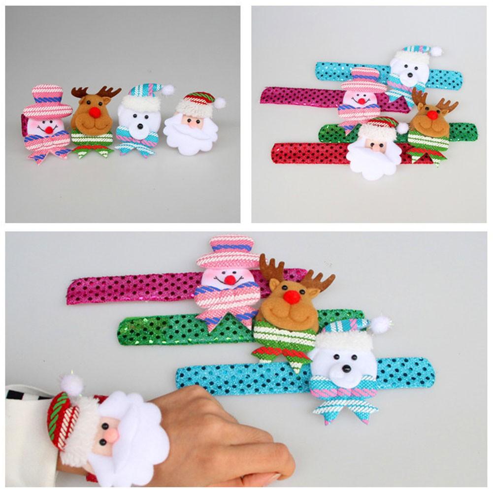 Fashion Led Light Glow Christmas Dazzling Toy Slap Circle Bracelet Wristband