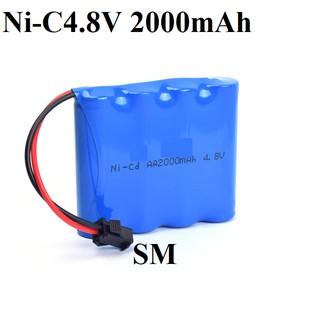 Pin sạc Ni-Cd 4.8v 2000mAH cổng SM dùng cho xe mô hình điều khiển thumbnail