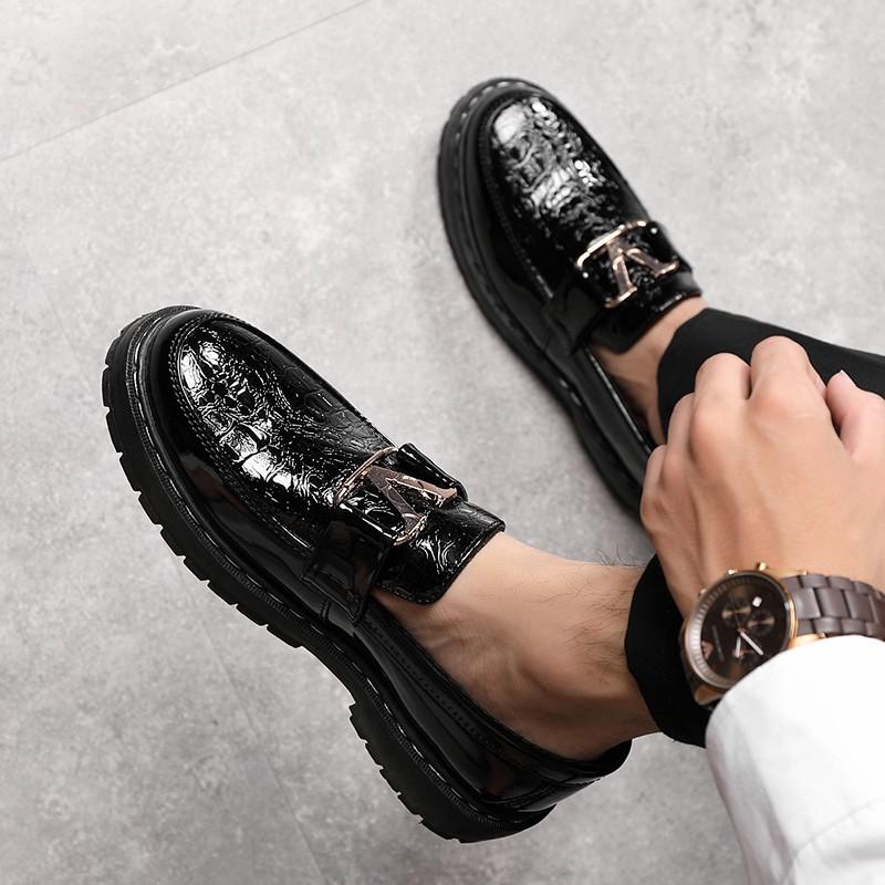 Giày lười công sở nam da cao cấp G37 hàng hiệu đẹp sang trọng, giày tây da nam giá rẻ đi làm đi chơi