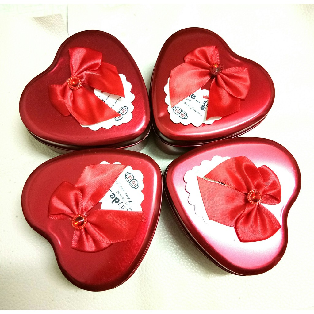 (9cm) Hộp đựng quà tặng, mỹ phẩm, son, trang sức hình trái tim
