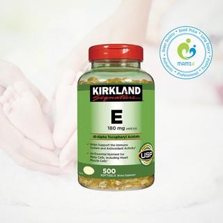 Vitamin E thiên nhiên (500v) làm sáng da, ngăn ngừa lão hóa cho phụ nữ trên 12 tuổi Kirkland Signature 400 I.U, USA thumbnail