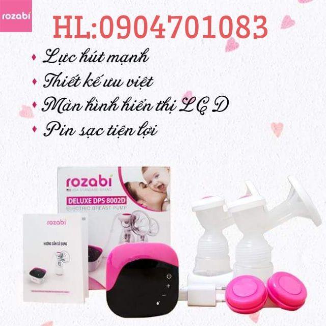 Máy hút sữa điện đôi cao cấp Rozabi Deluxe - 2674361 , 1029649835 , 322_1029649835 , 1485000 , May-hut-sua-dien-doi-cao-cap-Rozabi-Deluxe-322_1029649835 , shopee.vn , Máy hút sữa điện đôi cao cấp Rozabi Deluxe