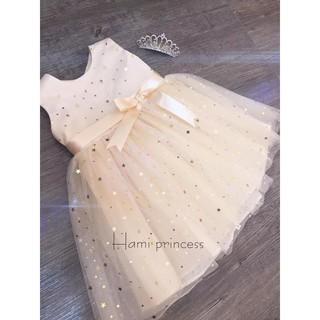 Váy công chúa voan sao nơ eo ❤️ FREESHIP ❤️ Váy công chúa voan sao nơ eo cho bé