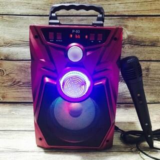 Loa Karaoke Bluetooth P91/P93 1 MIC KO DÂY 30W