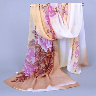 GCGCTOP Women's shawl scarves scarf summer sunscreen chiffon pattern beach soft collar scarf