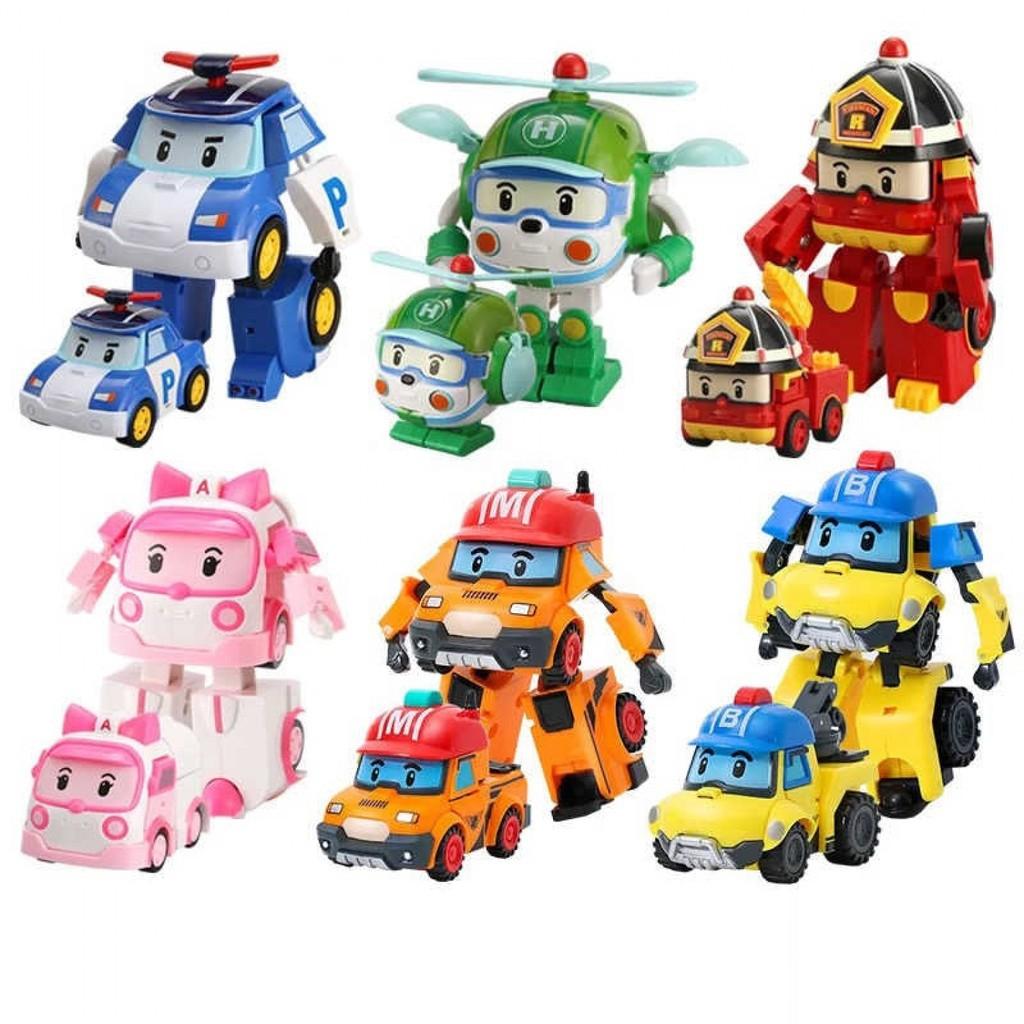 Bộ 6 xe Robocar Poli biến hình nhựa tốt