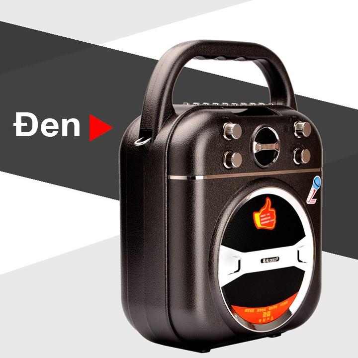 Loa bluetooth xách tay hát karaoke cao cấp DEED D-B100 40W (Đen) + Tặng kèm micro không dây