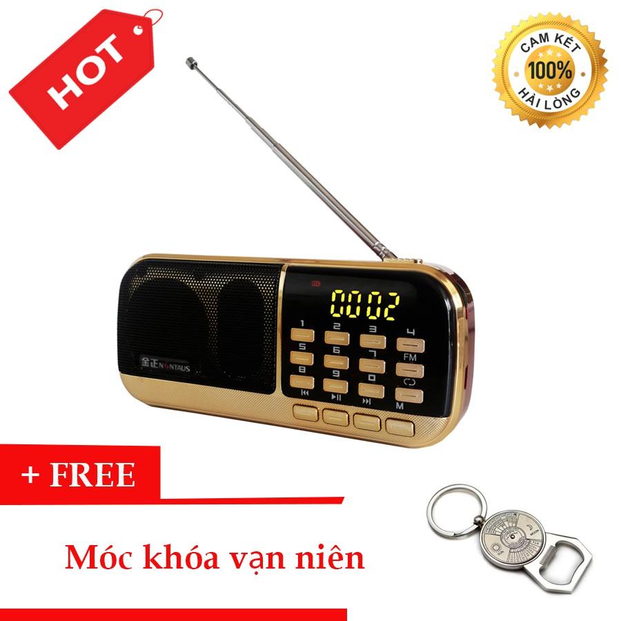 Đài Radio MP3 USB, máy nghe nhạc cầm tay Walkman - B871 + Tặng Móc Khóa Vạn Niên