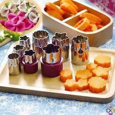 Dụng cụ tỉa hoa quả 8 món bằng inox tiện lợi