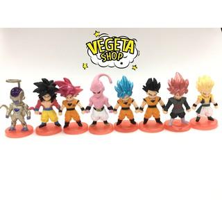Mô hình(Figure) Set 8 mẫu Dragon ball (bán lẻ) – Cao 7cm – Bán lẻ đồng giá 20k
