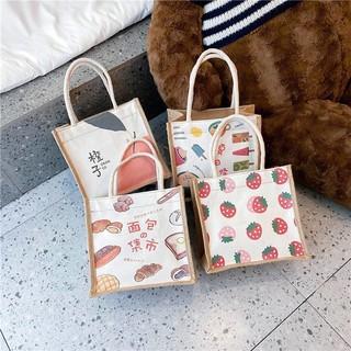 Túi cói mini hoạ tiết siêu xinh