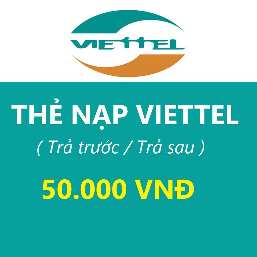 Thẻ Cào Viettel 50