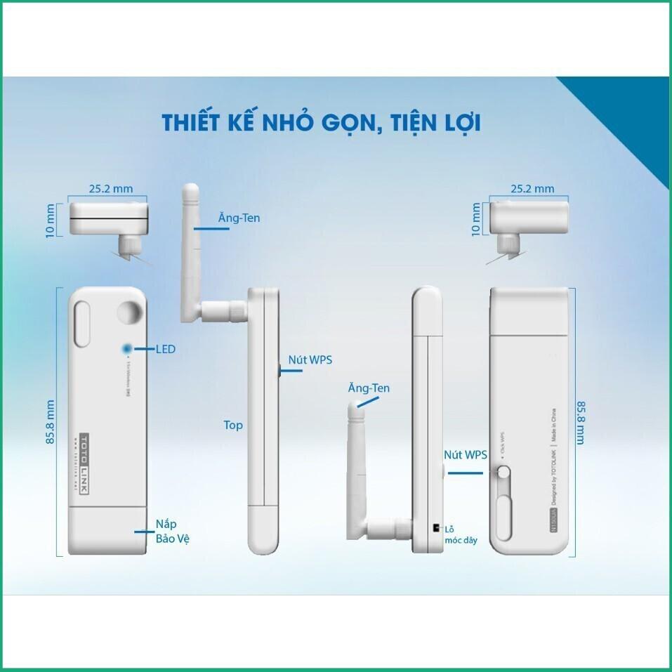 [ĐỘC QUYỀN] Totolink N150UA – USB wifi chuẩn N 150Mbps Giá chỉ 160.000₫