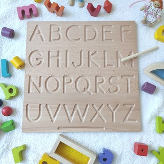 Treeyear Alphabet Tracing Boards ABC Trace Letters and Numbers Wooden Montessori Learning Skills and fine Motor Development for preschoolers