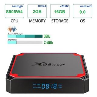 Android tv box X96 mini+ Ram 2GB - Rom 16GB - Hệ điều hành Android 9.0 - Bảo hành 1 năm - Hàng chính hãng