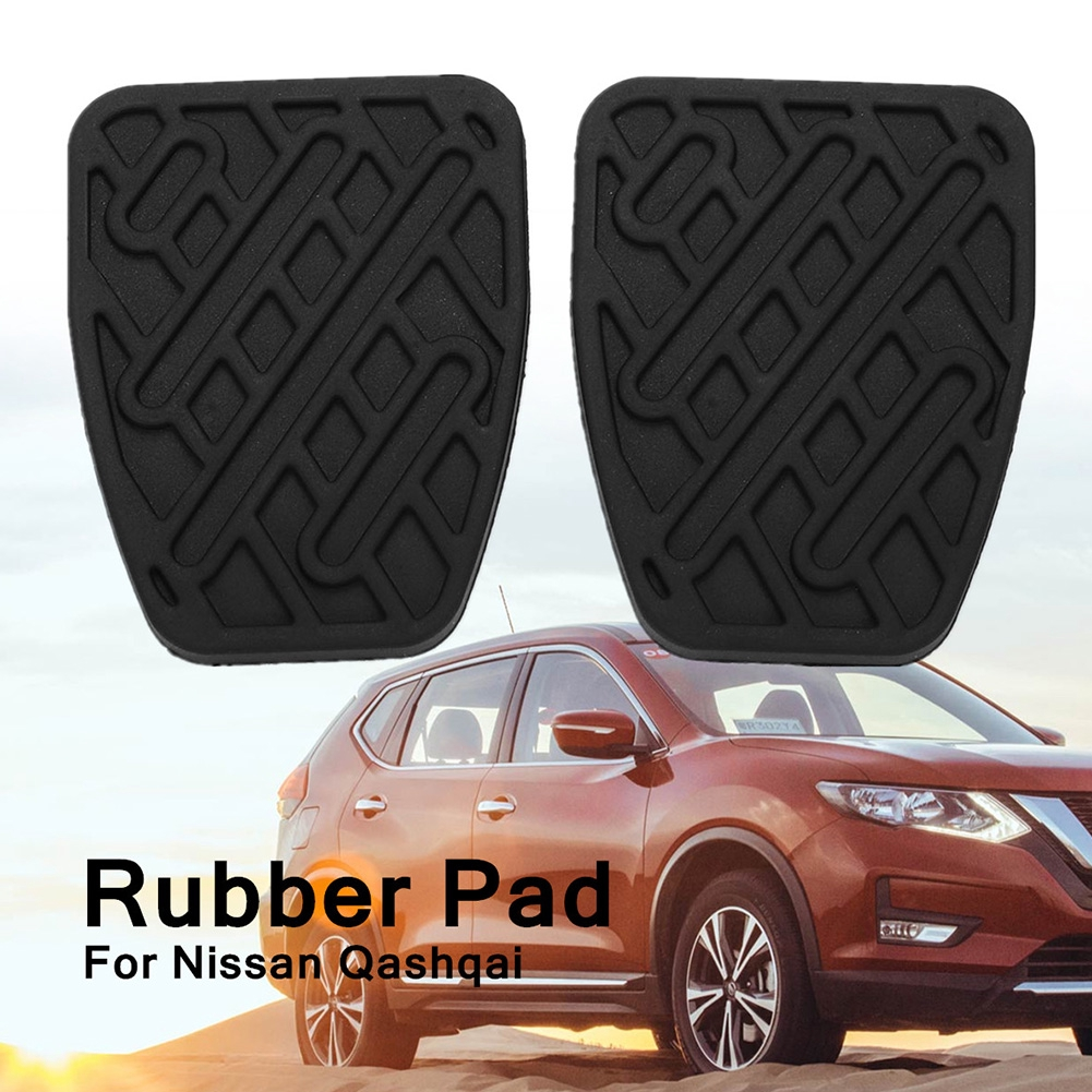 1 Pair Clutch Rubber Brake Easy Installation Durable Car With Cover Pedal Pad