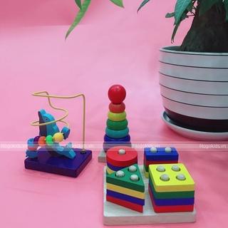 Đồ chơi gỗ rèn luyện tinh quan sát khéo léo tập trung phát triển giác quan cho bé từ 1 - 2 tuổi thumbnail